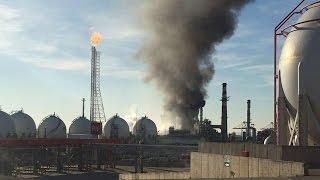 Kocaeli'deki Tüpraş Rafinerisi'nde yangın çıktı