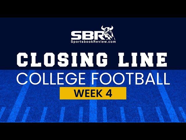 College Football Week 4 Closing Lines | NCAAF Game Picks & Predictions