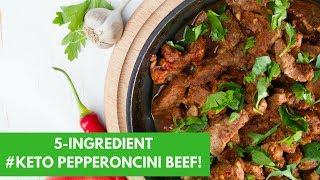 5 Ingredient #Keto Pepperoncini Beef!