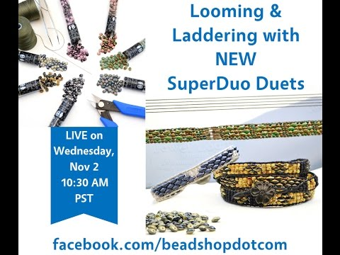 Facebook LIVE Looming and Laddering with SuperDuos 11/2/16