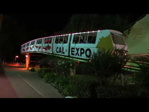 Cal Expo Monorail Night Scenes at the Fair