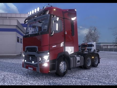 eurotrucks 2 francemap renault range t 6x4 calais le havre youtube. Black Bedroom Furniture Sets. Home Design Ideas