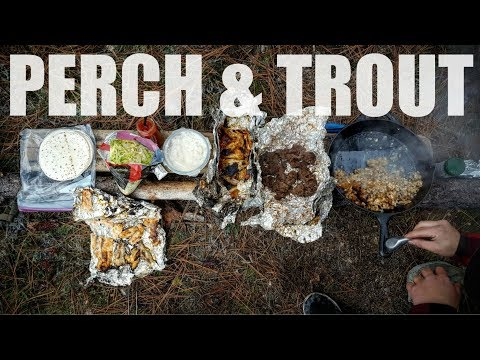 Catch and Cook: Yellow PERCH & Rainbow Trouts for Lunch! (episode #8)