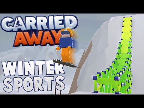Snowboarding, Skiing & Bobsledding! - Carried Away Winter Sports Gameplay