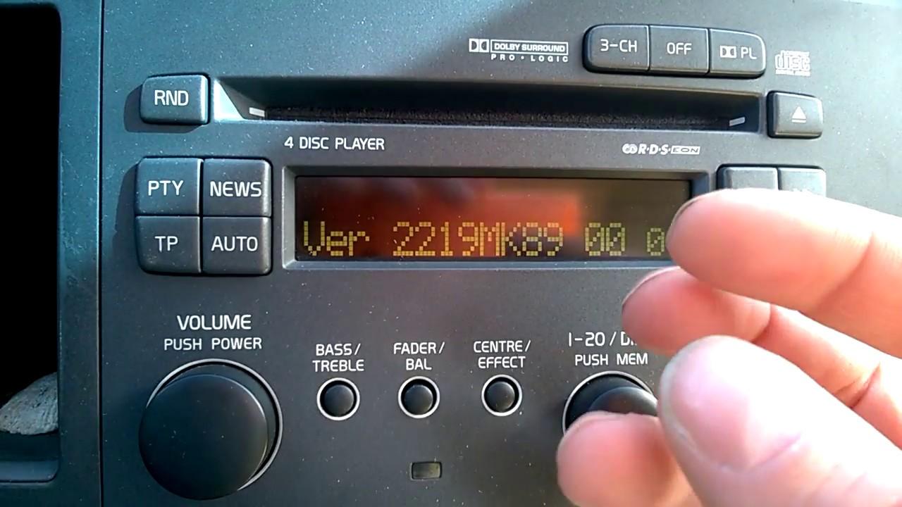 Volvo S60 V70 Hidden Menu and equlizer HU-803 and HU-613 Audio units  2001-2004 - YouTube | Volvo Hu 613 Wiring Diagram |  | YouTube