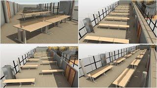 Generative Design in Revit for Workspace Layout | Designing for COVID-19: Sample Studies