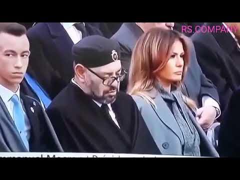 Le Roi du Maroc Mohammed VI dort pendant le discours d'Emmanuel Macron