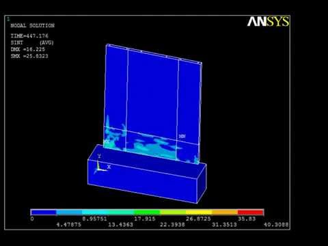 reinforced concrete shear wall ANSYS cyclic loading