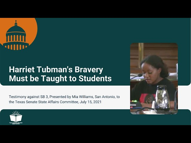 Tubman's Bravery Must be Taught to Students – Student Testimony