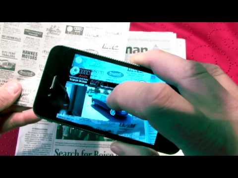 Augmented reality Newspaper and type print ads