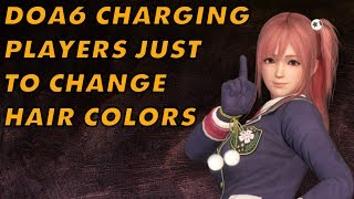 Dead Or Alive 6 Charges Players To Change Their Hair Color... And To Change It Back