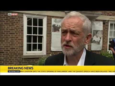 Jeremy Corbyn interview during #GrenfellTower visit