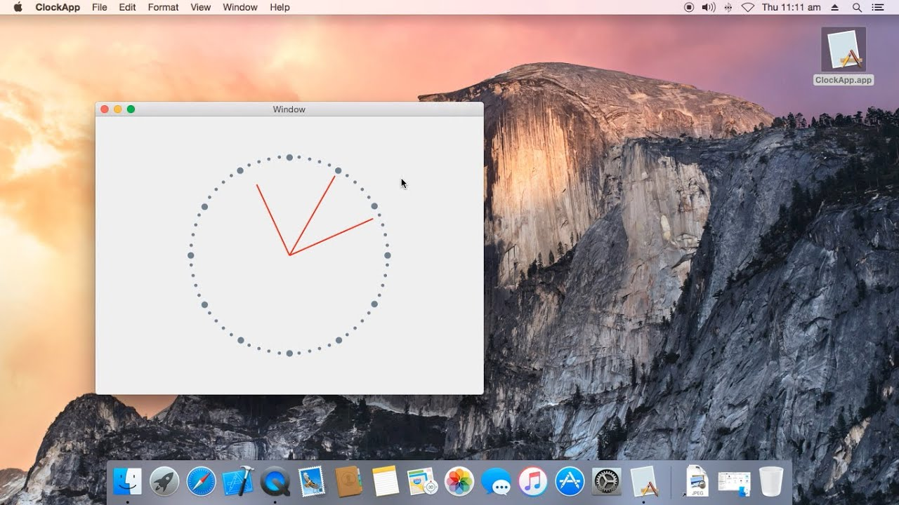 Draw Clock using Objective-C and Cocoa Framework