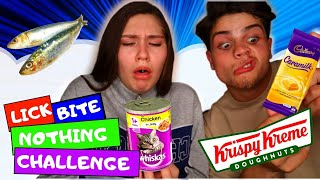 BITE, LICK OR NOTHING FOOD CHALLENGE