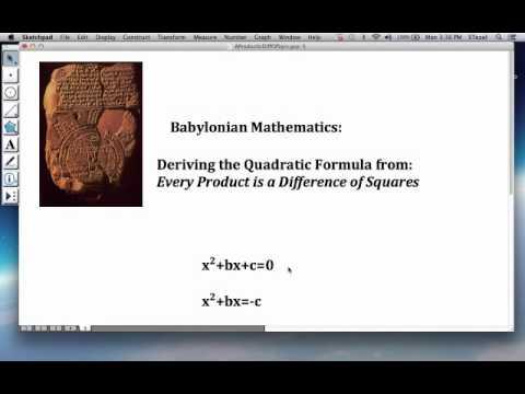babylonian mathematics quadratic equations