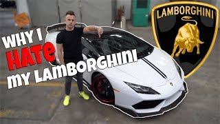 CONS of owning a Lamborghini...