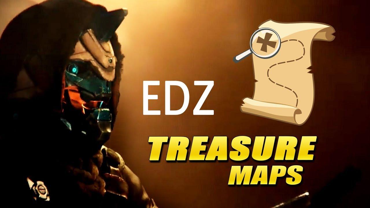 all edz treasure maps from cayde 6 in destiny 2 week 1 letter fragment treasures