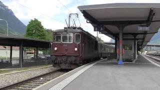 BLS Regional zug with Re4/4 @ Interlaken Ost