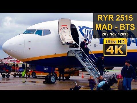 FLIGHT EXPERIENCE | Madrid - Bratislava | RYANAIR B737