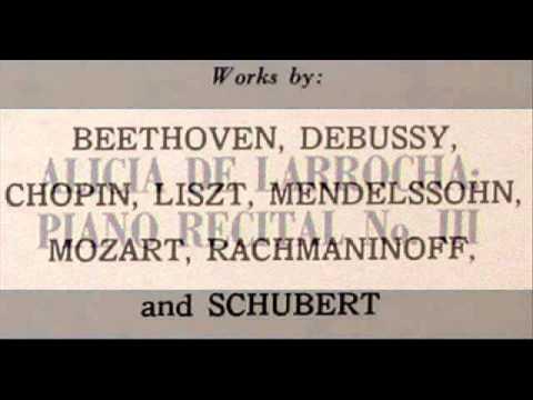 Rachmaninov / Alicia de Larrocha: Prelude in C sharp minor, Op. 3, No. 2 - Hispavox, late 1950s