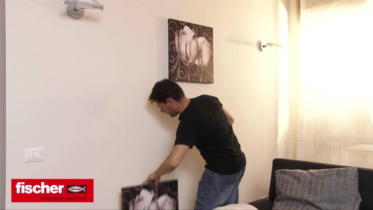 Come appendere un quadro su cartongesso con tassello for Appendere quadri senza chiodi ikea