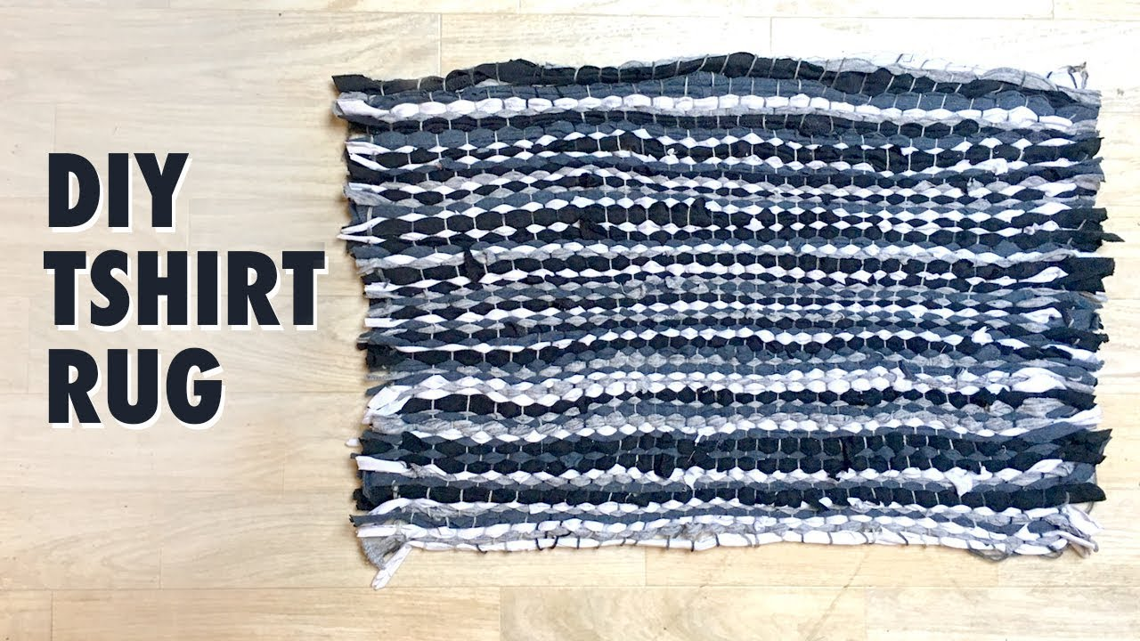 How To Make A Rag Rug Using T Shirts Tshirt Tutorial