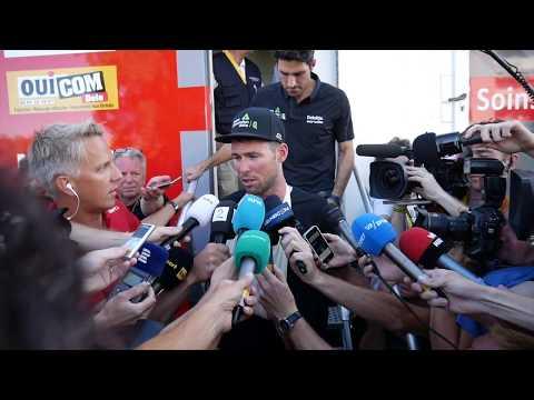 2017 Tour de France, Stage 4, Mark Cavendish: Post crash response