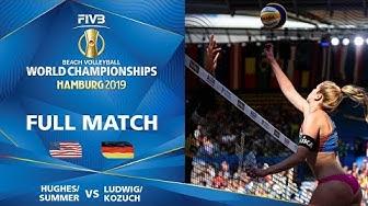 Summer/Hughes (USA) vs Ludwig/Kozuch (GER) - Full Match | Beach Volleyball World Champs Hamburg 2019