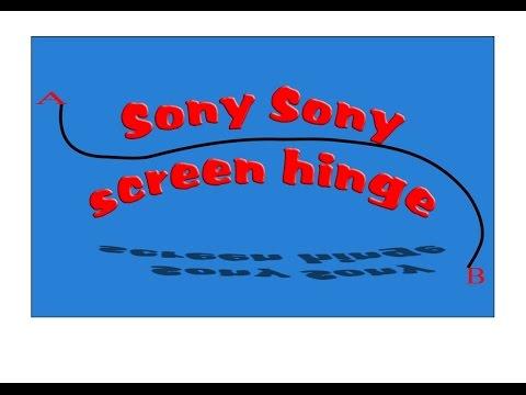 Sony screen hinge strengthening