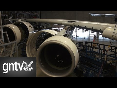 A tour around Emirates' aircraft maintenance facility