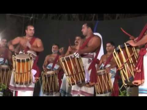 Most Insanely Energising Drumming in the World - Chenda Melam - Kerala