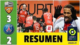 Lorient 3-2 PSG. Doblete de Neymar no pudo evitar la caída de su equipo que es tercero | Ligue 1