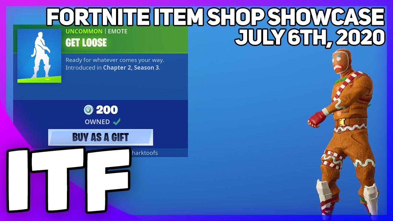 Fortnite Item Shop *NEW* GET LOOSE EMOTE! [July 6th, 2020] (Fortnite Battle Royale)
