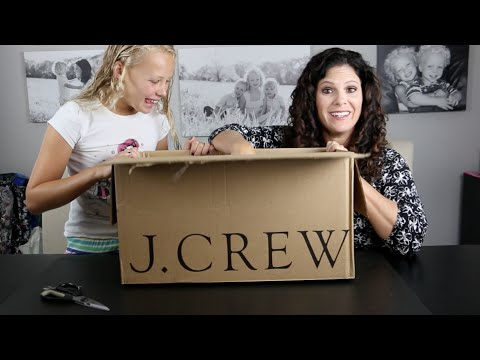 BACK TO SCHOOL Fashion Haul and Unboxing with JCrew Crewcuts