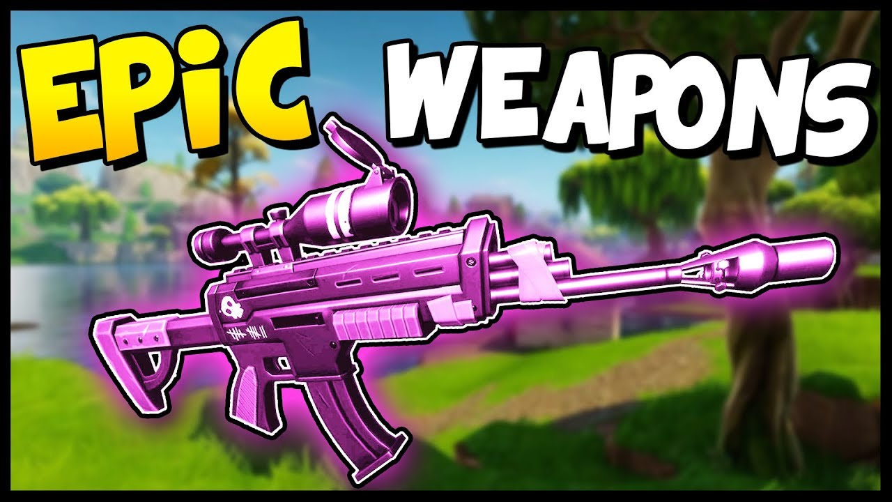 Epic Sniper Epic Scar Solo Gameplay Fortnite Battle Royale Gameplay