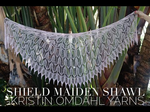How To Knit Edging For Shield Maiden Shawl Youtube