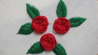 Beautiful Roses Stitches Hand Embroidery