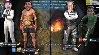 MY BEST RULES OF SURVIVAL SQUAD GAME WITH THE YOUTUBER SQUAD! (iOS/Android/PC)