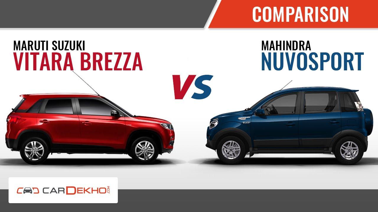 Maruti Suzuki Vitara Brezza vs Mahindra Nuvosport ...