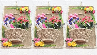 5 Jute craft ideas   Home decorating ideas handmade #9