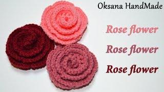 Розы крючком. Мастер класс. Rose flower crochet