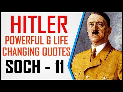 तानाशाह अडोल्फ हिटलर Adolf Hitler Powerful & Life Changing Quotes In Hindi || Soch 11