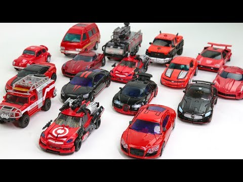 Red Black Color Transformers Movie & MasterPiece 16 Vehicles Car Transform Robots Toys