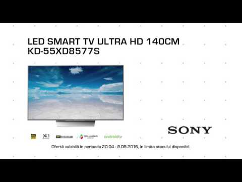Reclamă Media Galaxy - TV Ultra HD 140 CM SONY - aprilie 2016