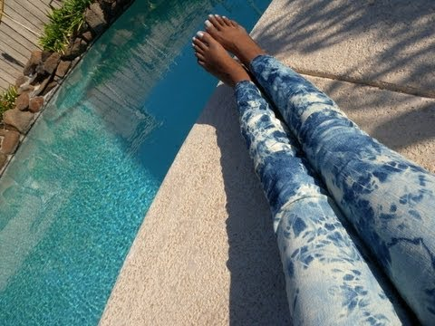 Diy Acid Washed Jeans Bleached Youtube