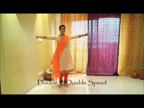 Learn Kathak (English): step13 | tat tat thei | 3 foot spin| Indian classical dance