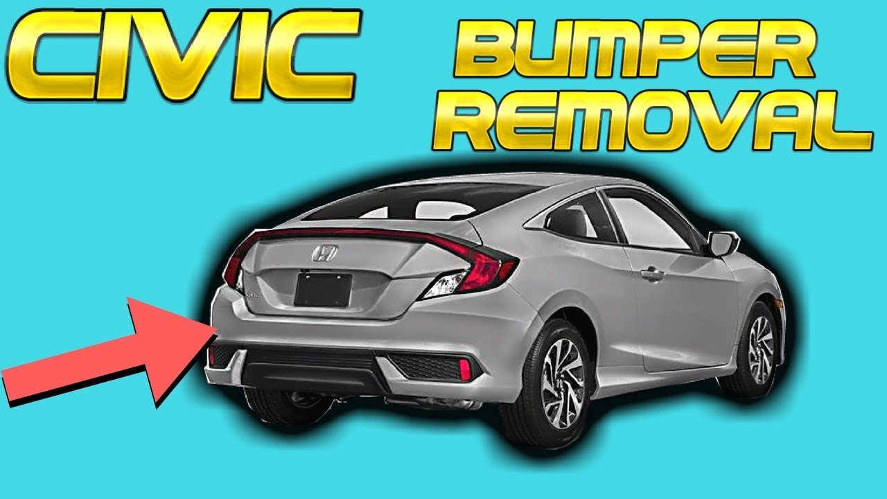 10Th Gen Civic >> 10th Gen 2016 2017 2018 Honda Civic Coupe Rear Bumper Removal How to Remove Install Replace ...