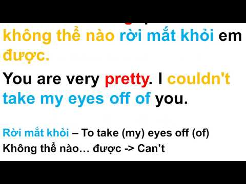 Learn Vietnamese: Pick-up lines - Beautiful words for her