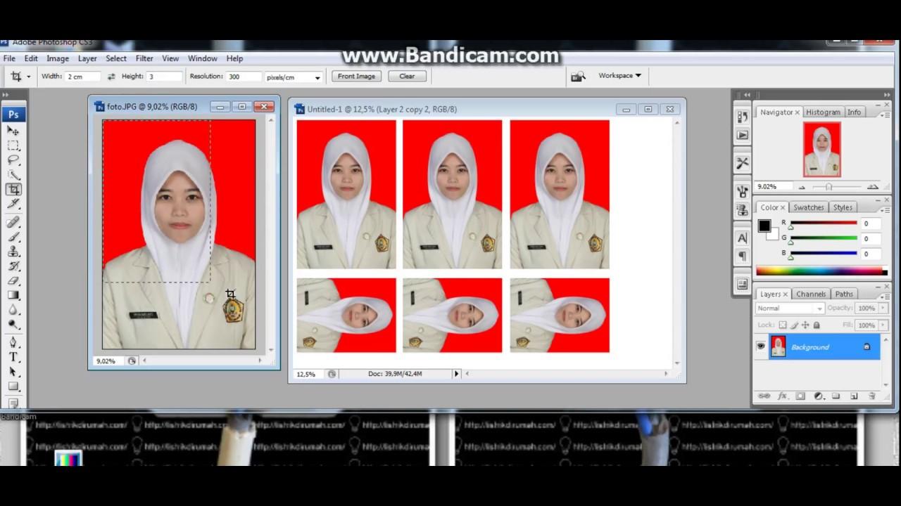 Cara Membuat Ukuran 2x3 3x4 4x6 Untuk Pas Poto Di Adobe Photoshop Youtube