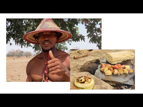 COOKING EGGS ON A ROCK - AFRICAN #bushcraft #villagelife #cookinginvillage #outdoorcooking